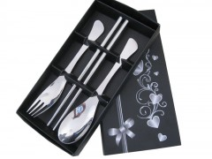 创意礼品餐具快乐时光勺叉筷三件