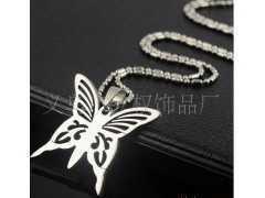 不锈钢饰品蝴蝶线切割吊牌   钢