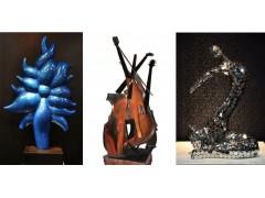 花开了玻璃钢雕塑 金属小提琴雕