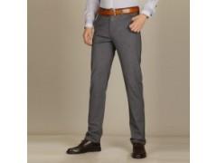 男士裤子商务休闲裤 男裤 修身直筒高弹力针织裤