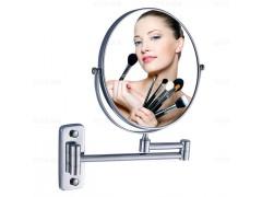 全铜不锈钢壁挂式带LED灯双面化妆镜卫浴挂件产厂家浙江温州