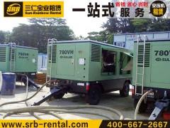 四川凉山高风压移动式柴油机空压机租赁,增压机租赁