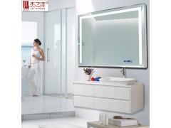 广东深圳杰之洋led卫浴镜浴室家具铝合金边框时间温度触摸开关