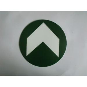 荧光地贴膜,圆形安全出口箭头地标,PVC塑料消防地贴