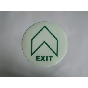PVC夜光地贴,疏散通道地面导向指示牌,夜光标识发光消防安全标志