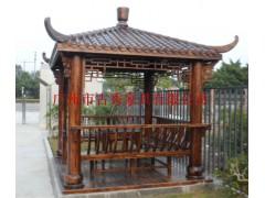 碳化木景观四角亭子,设计凉亭