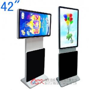 欧视卡42寸落地式广告机 旅转屏广告机 左右旋转可横屏或竖图播放