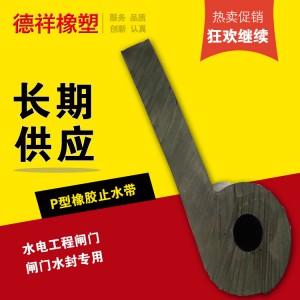 惠州水电阀门专用P型橡胶止水带闸门水封可定制空心柱接缝止水条