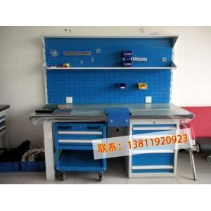 供应格诺重型带挂板工作台车间操作台