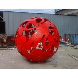 镂空球不锈钢雕塑 城市景观不锈钢雕塑 不锈钢雕塑厂家