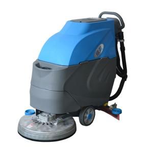武汉商场地面清洗用手推式洗地机|依晨电动刷地机洗地机专卖