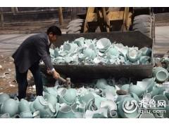 上海劣质瓷器产品销毁,上海质监局伪劣品销毁焚烧,品牌产品销毁