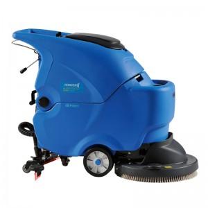 容恩电瓶式洗地机图片|展览馆用洗地吸干机