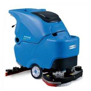 长时间清理工厂环氧地坪用手推式洗地机|容恩洗地机配件