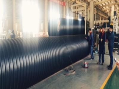 张家港市政工程排水排污HDPE钢带波纹管