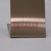 304不锈钢发纹镀古铜装饰板