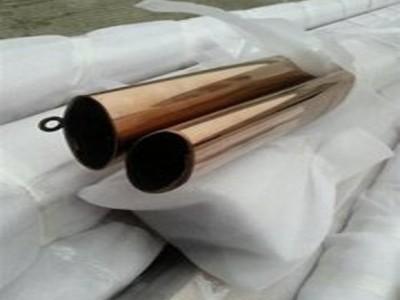 不锈钢圆管101.6*5.0拉丝玫瑰金