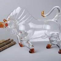 动物造型玻璃工艺牛形酒瓶厂家