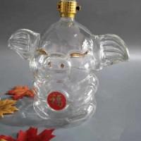 动物造型酒瓶 大耳朵猪玻璃工艺酒瓶厂家