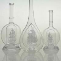 内套帆船玻璃工艺酒瓶一帆风顺酒瓶厂家订制