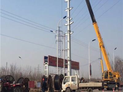 10KV钢管杆施工 10KV输电杆施工 10KV输电钢杆施工