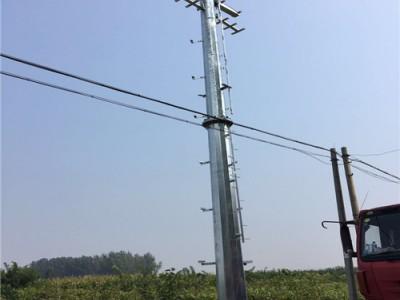 10KV钢管杆工程 10KV输电杆工程 10KV输电钢杆工程