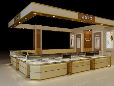 山东黄金展柜,山东珠宝柜台,黄金柜台设计制作-纯一商业展示