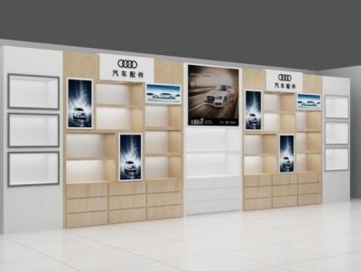 济南汽车配件展柜;济南汽车贴膜展柜,汽车饰品展柜制作公司