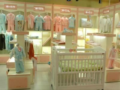 济南童装烤漆展柜设计济南童装店面装修设计济南孕婴展柜制作