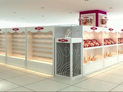 濟南唇膏展柜-鞋帽頭飾展柜制作-耳釘飾品店面展示柜設計