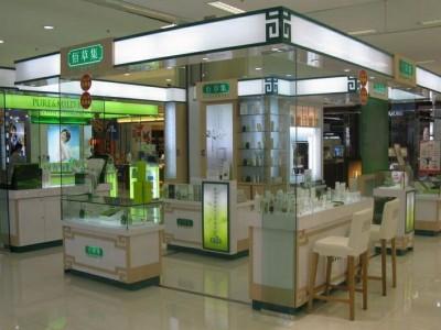 化妆品展柜设计_欧莱雅化妆品专柜制作-济南纯一展柜厂家