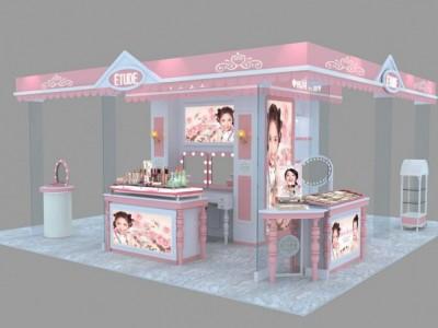 济南化妆品展示柜陈列柜-化妆品货架-美甲彩妆展示柜制作