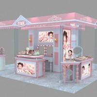 济南彩妆展柜制作-济南化妆品展柜展台制作店面设计公司