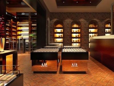 山东济南专业展柜制作报价定做红酒展柜、白酒展柜订做公司