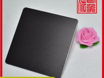 厂家直销304喷砂不锈钢黑钛酒店装饰材料