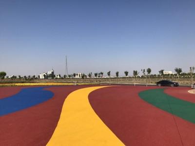 舟山彩色防滑道路施工,透水混凝土地坪材料批发