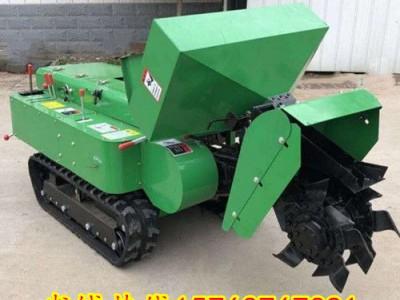 超大料箱配置的自走式履带耕地机 小型施肥旋耕机  农用培土机