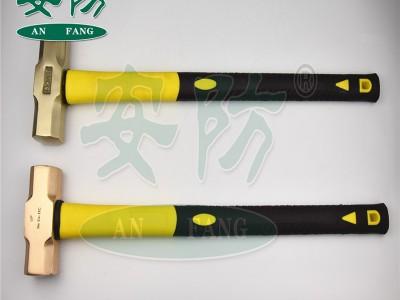 防爆八角锤 纯铜大锤安全手锤橡胶手柄铜榔头3-24p铜锤