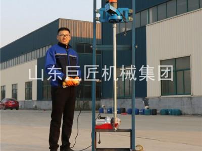 可折叠4KW龙门架式小型民用电动打井机家用