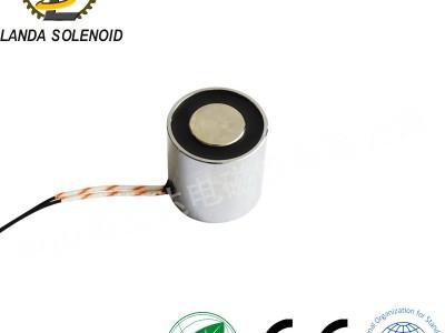 直流吸盘式电磁铁 电吸盘60*90圆形微型 10KG