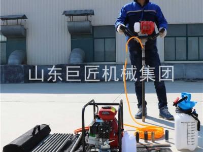 户外勘探 20米单人背包钻机BXZ-1钻孔浅层取样岩芯钻机