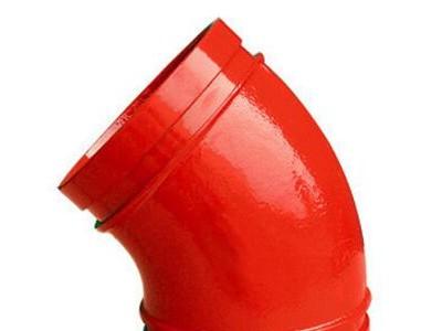 内外涂塑碳钢对焊管件耐腐浊加工精细