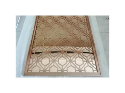 玫瑰金不锈钢屏风隔断-不锈钢屏风隔断定制生产厂家