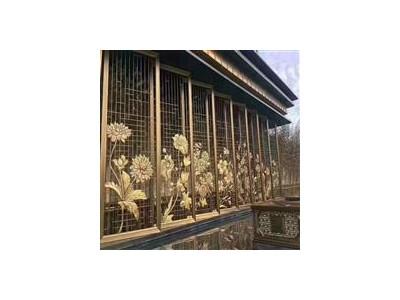 玫瑰金不锈钢屏风隔断酒店花格屏风定制厂家