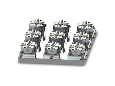 D100 CNC快速定位工装夹具 9头气动卡盘