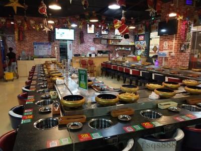 自助旋转火锅设备 回转火锅 自动传送火锅 回转寿司餐桌