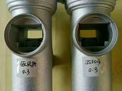 低贝钢丸S110抛丸效果白亮接近不锈钢丸效果