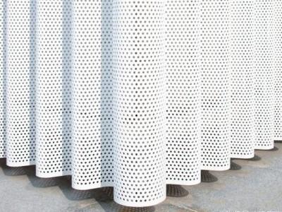 冲孔网定制各种规格尺寸 墙幕铝板烤漆板墙耐腐蚀耐高温