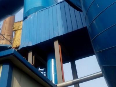 中央空调橡塑保温施工管道罐体彩钢板外护安装