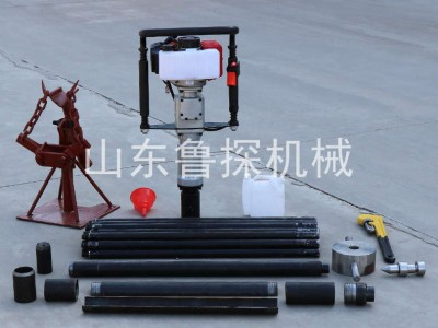 鲁探匠心制作QTZ-3手持式土壤采集器 小型地质取样钻机